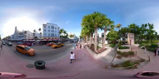 360vr footage Miami Beach shot on a 360 camera 5.2k stock video