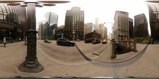 360vr foto van de de metroingang Van de binnenstad van Chicago de V.S. Stock Foto's