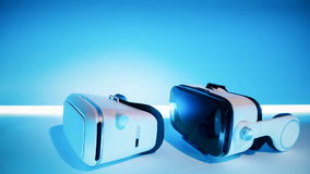 VR gaming headset. New three-dimensional virtual game technology stock video footage