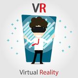 Vr gear man character vector Stock Photo