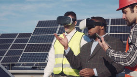 Vr glasses and solar power. Stock Image