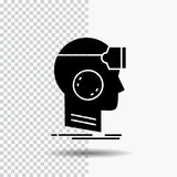 VR, googles, headset, reality, virtual Glyph Icon on Transparent Background. Black Icon. Vector EPS10 Abstract Template background royalty free illustration