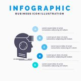 VR, googles, headset, reality, virtual Infographics Template for Website and Presentation. GLyph Gray icon with Blue infographic. Style vector illustration vector illustration