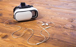 VR headset earbud Stock Photo