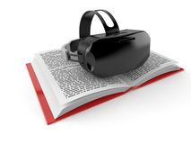 VR headset on open book royalty free stock images