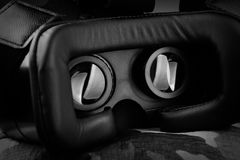 VR headset. Black and white Royalty Free Stock Images