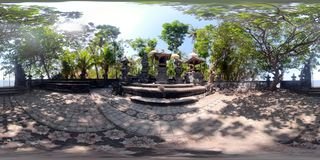 Hindu temple in Bali vr360 stock photography
