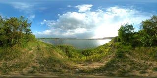 360 vr Lake panoramic 4k stock video footage