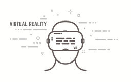 VR line concept Royalty Free Stock Photography