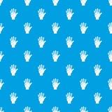 Vr manipulator pattern seamless blue. Vr manipulator pattern repeat seamless in blue color for any design. Vector geometric illustration Stock Images