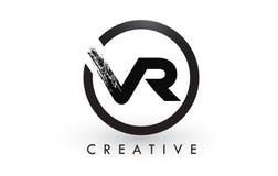 VR muśnięcia listu loga projekt Kreatywnie Oczyszczony list ikony logo royalty ilustracja