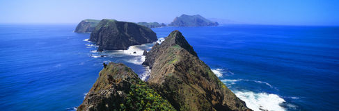 Vår nationalpark på för den Anacapa ön, kanalöar, Ventura, Kalifornien Fotografering för Bildbyråer