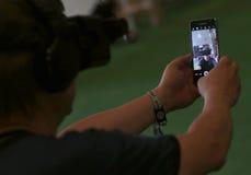 Vr przyrządów próbny selfie Obraz Stock