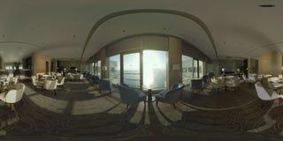 360 VR Restaurant overlooking the sea on hotel top floor