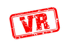VR rubber stamp Stock Photo