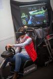 VR som kör leken arkivfoton