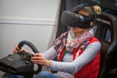VR som kör leken arkivbilder