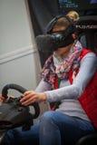 VR som kör leken royaltyfri foto