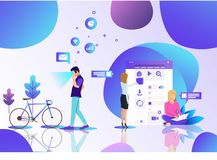 Vr technological office of the workplace stock illustration