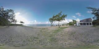 360 VR Timelapse της φύσης και του ζεύγους που περπατούν στην παραλία, Μαυρίκιος φιλμ μικρού μήκους