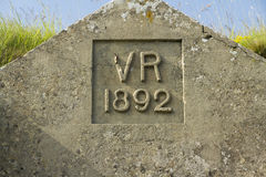 VR Victoria Rex 1892 Royalty Free Stock Images