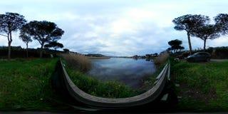 360 VR video lake landscapes