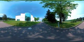 Vr 360 video recreation spa hotel complex, nature stock video