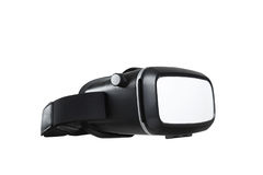 VR virtual reality glasses half turned isolated on white Stock Photos