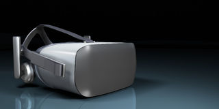 VR virtual reality headset half turned front view isolated on white background VR is an immersive experience in which your head m. Ovements are tracked in 3d royalty free illustration