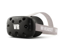 VR virtual reality headset isolated on white royalty free illustration