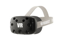 VR virtual reality headset  on white Stock Images