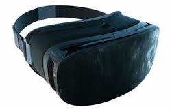 VR virtuele die werkelijkheidsglazen op witte achtergrond worden geïsoleerd 3D Illustratie stock illustratie