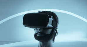VR-virtuell verklighetexponeringsglas Arkivbild