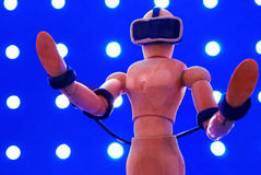 VR wooden dummy. Stock Image