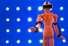 VR wooden dummy. Stock Photos