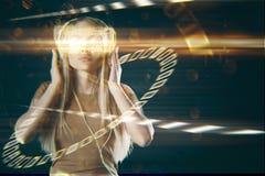 VR y concepto de la ciencia Fotos de archivo libres de regalías