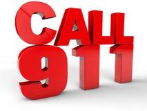 Vraag 911 royalty-vrije illustratie
