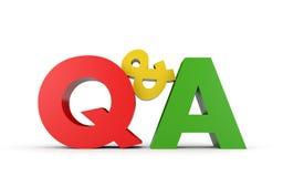 Vraag en antwoord stock illustratie