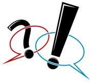 Vraag- en antwoord stock illustratie