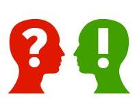 Vraag en antwoord concept Stock Afbeeldingen