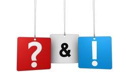 Vraag en antwoord concept Stock Fotografie