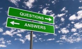 Vraag en antwoordtekens royalty-vrije stock afbeelding