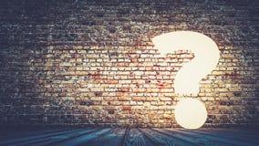 Vraag hard concept het 3d teruggeven Royalty-vrije Stock Afbeelding