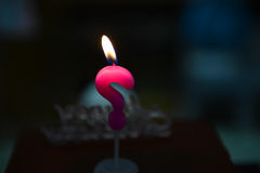 Vraag Mark Birthday Candle Stock Afbeelding