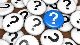 Vraag Mark Faq Questions Concept Stock Illustratie