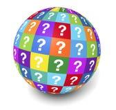 Vraag Mark Globe Concept Royalty-vrije Stock Foto's