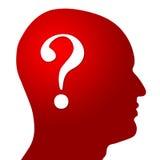 Vraag Mark In Head stock illustratie