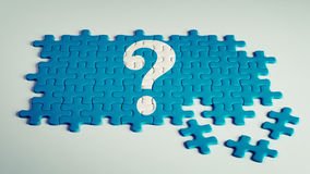 Vraag Mark Puzzle Royalty-vrije Stock Foto