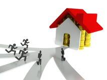 Vraag naar huizen en onroerende goederen, bedrijfsmetafoor Stock Afbeelding