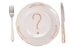 Vraag over maaltijd Stock Foto